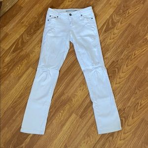Girls white Jeans size 8 worn once